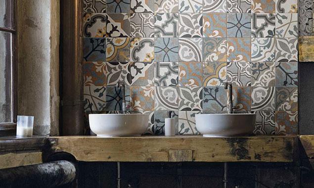 baño lavabo estilo vintage sevilla