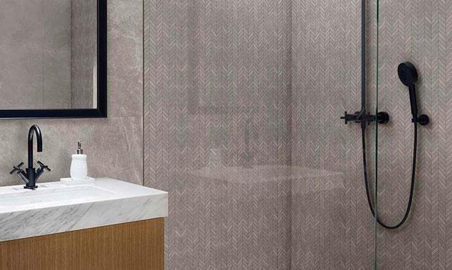 ducha y lavabo baño estilo escandinavo