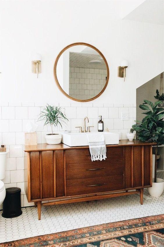 espejo baño vintage