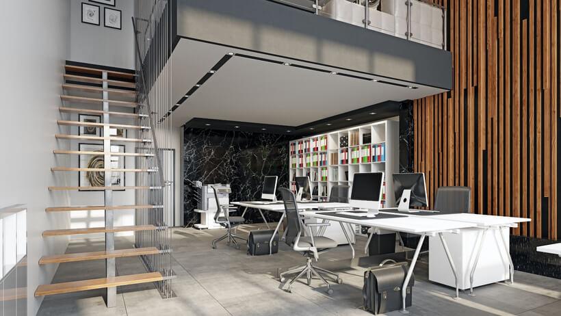 oficina reformada espacio abierto Sevilla