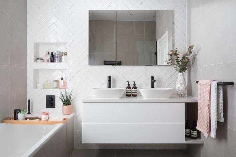 decorar un baño moderno estilo industrial